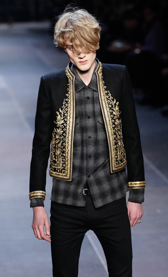 Saint Laurent embroidered jacket